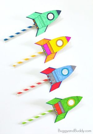 Straw Rocket Craft a