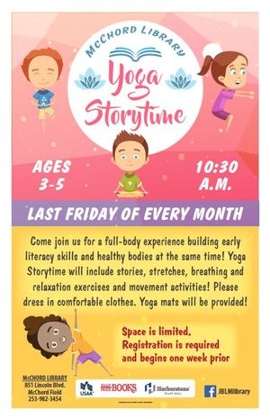 Yoga Storytime at Mc